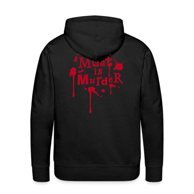 Mens Hoodie 'Vegan Sport+Meat is Murder'