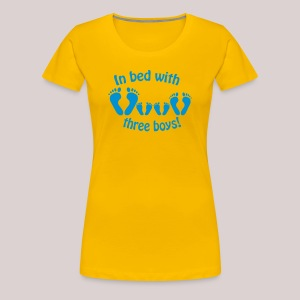 In bed with three boys - Im Bett mit drei Jungs - Frauen Premium T-Shirt