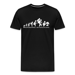 T-Shirt Homme Bonsaïka evolution texte Blanc - T-shirt Premium Homme
