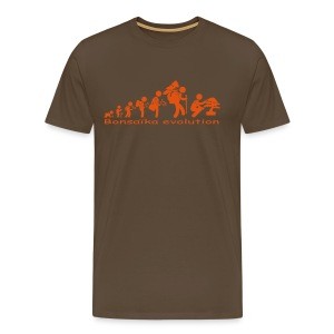 T-Shirt Homme Bonsaïka evolution texte Orange - T-shirt Premium Homme