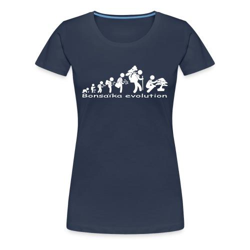 T-Shirt Femme Bonsaïka evolution texte Blanc - T-shirt Premium Femme
