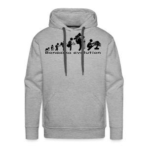 Sweat-Shirt picto Bonsaïka evolution texte noir - Sweat-shirt à capuche Premium pour hommes