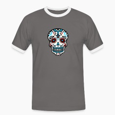 Skull, Mexico, flowers, patterns, skulls, mexican, T-Shirts