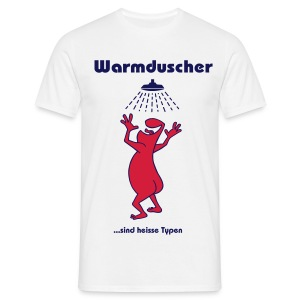 Warmduscher grün - Men's T-Shirt
