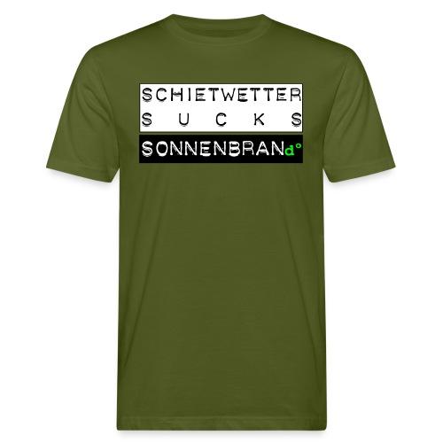 Sonnenbrand°Lsf 6 Tee * Schietwetter Sucks Jungs choose your favourite colour - Männer Bio-T-Shirt
