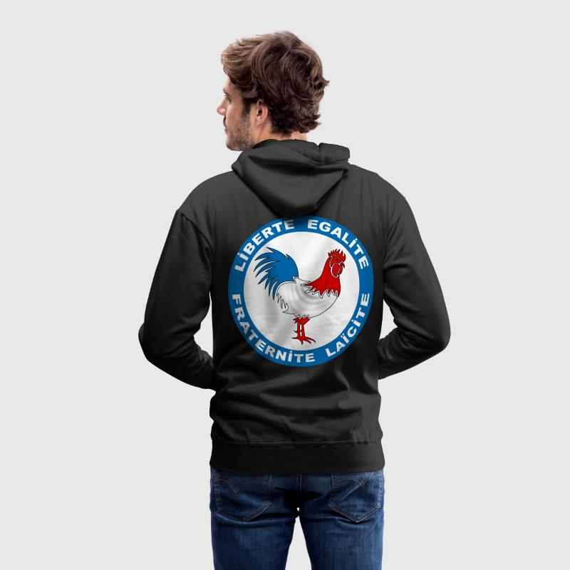 france coq symbole Sweat-shirts - Sweat-shirt à capuche Premium pour hommes