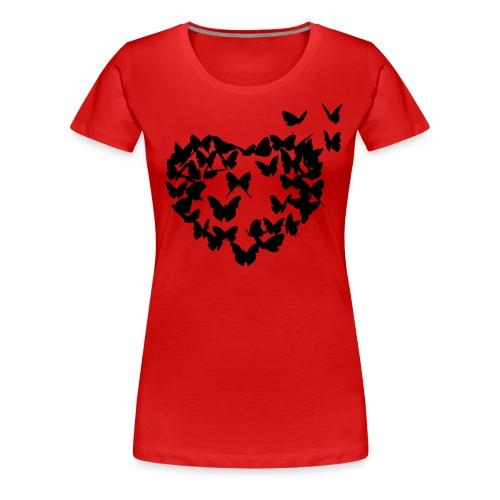 Damen T-shirt - Schmetterlinge im Bauch - Frauen Premium T-Shirt