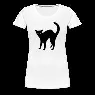 T-Shirts ~ Women's Premium T-Shirt ~ Black Cat design Ladies t-shirt