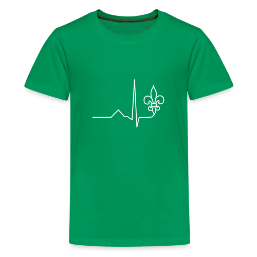 Scouts Heartbeat - Teenage Premium T-Shirt