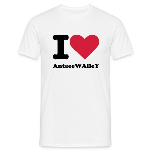 I Love AnteeeWAlleY T-Shirt - T-shirt herr