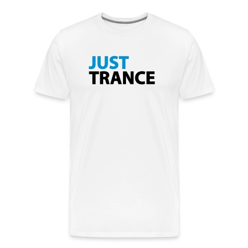 Just Trance Blue _ Back logo - Men's Premium T-Shirt
