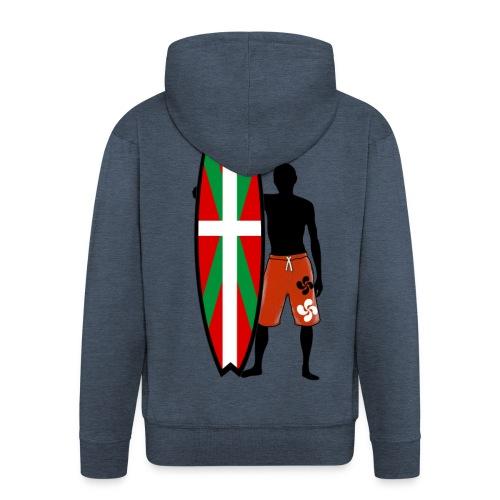 Basque surfing - Men's Premium Hooded Jacket