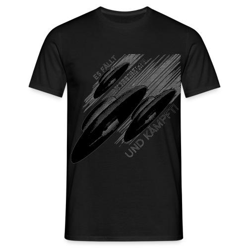Haunebu - Es fällt vom Himmel und kämpft! - Scharz/Schwarz - Männer T-Shirt