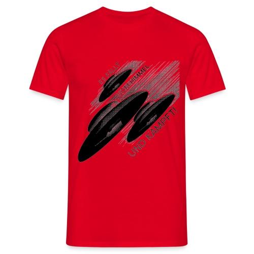 Haunebu - Es fällt vom Himmel und kämpft! - Rot/Schwarz - Männer T-Shirt