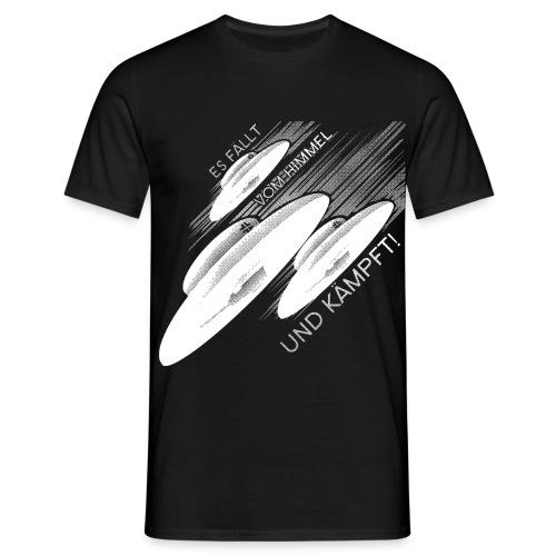 Haunebu - Es fällt vom Himmel und kämpft! - Scharz/Weiß - Männer T-Shirt