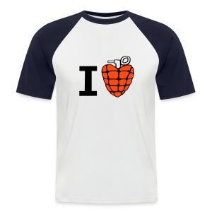 I love - T-shirt baseball manches courtes Homme