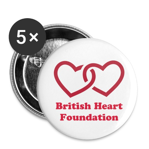 British Heart Foundation Badges - Buttons small 1''/25 mm (5-pack)