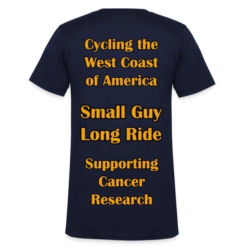 SGLR V-Neck T-Shirt With Large Back Info - Men's Organic V-Neck T-Shirt by Stanley & Stella