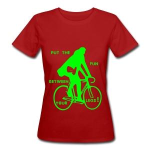 put the fun... ( organic girlie green / logo flex neon green ) - Frauen Bio-T-Shirt