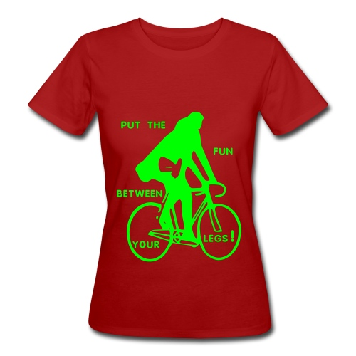 put the fun... ( organic girlie green / logo flex neon green ) - Frauen Bio-T-Shirt