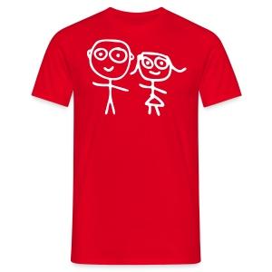 Happy Red - Mannen T-shirt