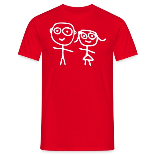 Happy Red - Mannen T-shirt