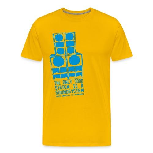 Männer Premium T-Shirt - the,system,style,soundsystem,shizzle,regge,reggae,reaggae,rasta,ragga,music,hiphop,fight,dancehall,bass,alternative
