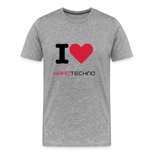I Love Hardtechno Shirt - Men - Männer Premium T-Shirt