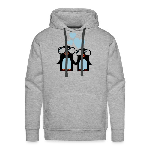Penguins in love... - Men's Premium Hoodie