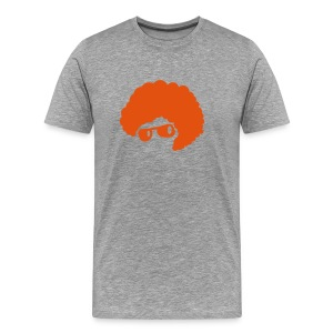 cool orange afro hair style 70's sunglasses  T-Shirts - Men's Premium T-Shirt