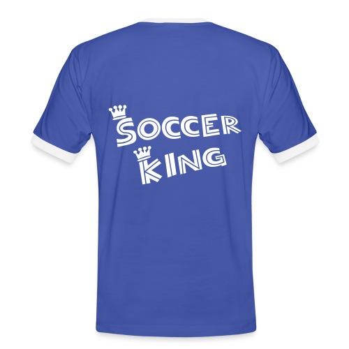 T-Shirt King 4 - Männer Kontrast-T-Shirt