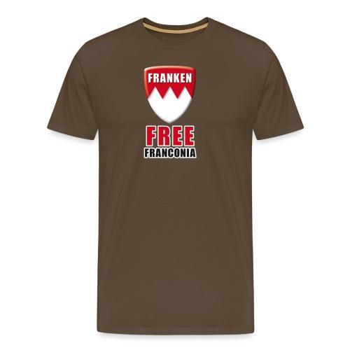 Free Franconia in edelbrau - Männer Premium T-Shirt