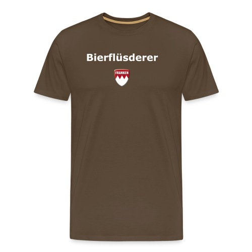 Bierflüsderer in edelbrau - Männer Premium T-Shirt