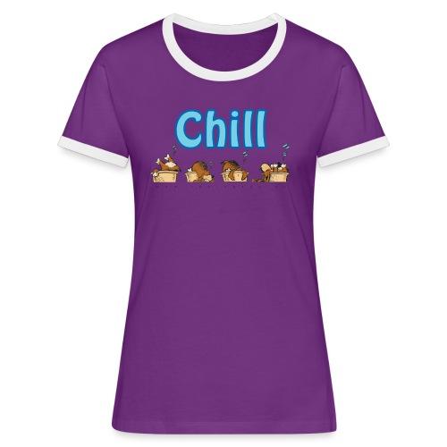 Chill - Kontrast-T-skjorte for kvinner