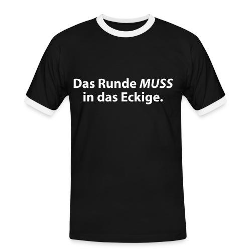 T-Shirt Rund 3 - Männer Kontrast-T-Shirt