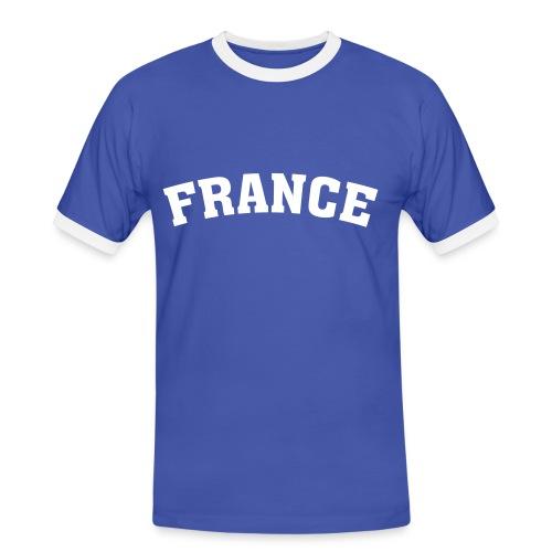 T-Shirt France - Männer Kontrast-T-Shirt