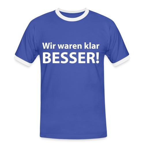 T-Shirt Besser 1 - Männer Kontrast-T-Shirt