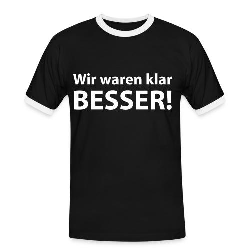 T-Shirt Besser 3 - Männer Kontrast-T-Shirt