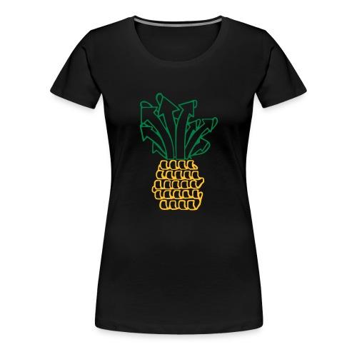 Ananas vorne - Frauen Premium T-Shirt