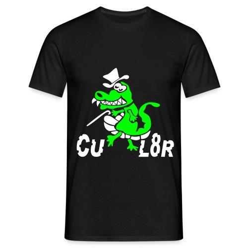 Heren zwart CUL8R - Mannen T-shirt