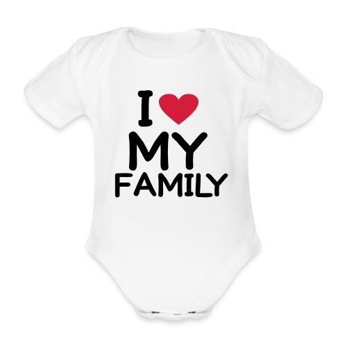 Barnebody-hvit - Økologisk kortermet baby-body