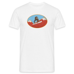 Snowboarding Monkey - Men's T-Shirt