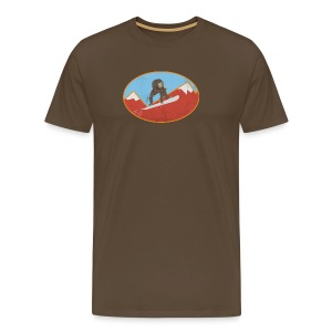 Snowboarding Monkey - Men's Premium T-Shirt