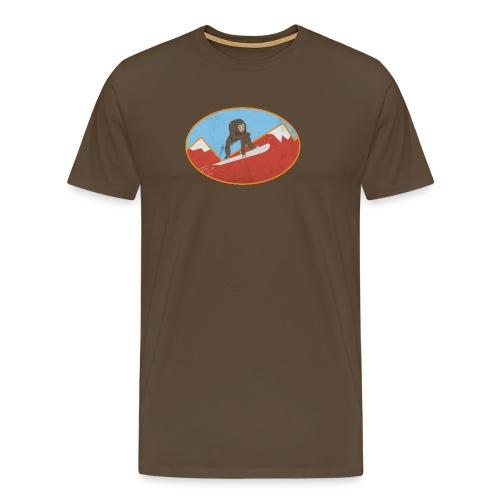 Snowboarding Monkey - Men's Premium T-Shirt