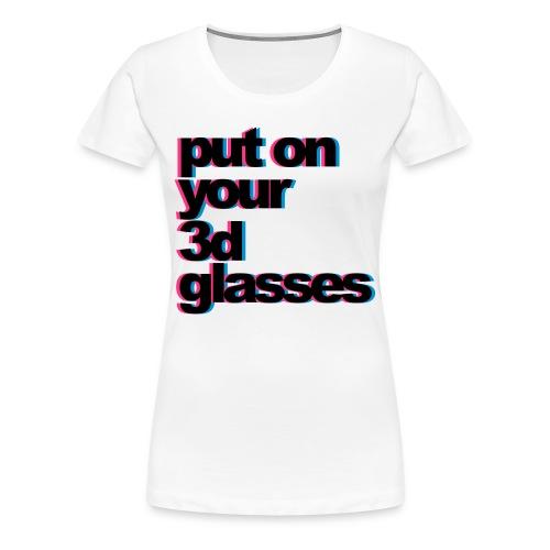 T-shirt 3D femme - T-shirt Premium Femme