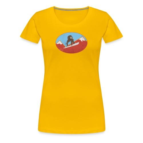 Snowboarding Monkey - Women's Premium T-Shirt