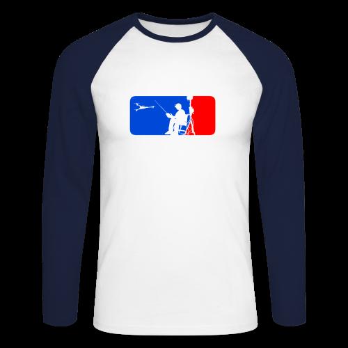 ML FPV Tri LST - Men's Long Sleeve Baseball T-Shirt