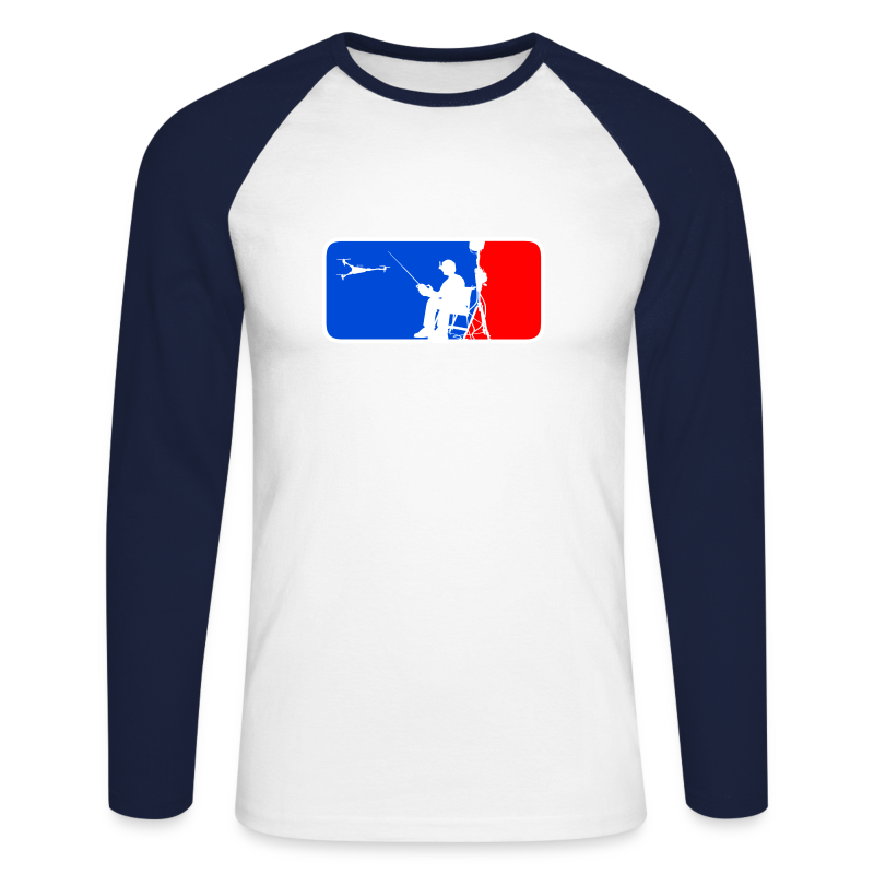 ML FPV Tri LST - Men's Long Sleeve Baseball T-Shirt