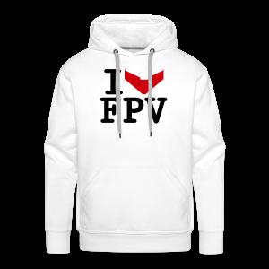 I Love FPV Hoodie - Men's Premium Hoodie