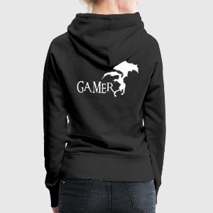 Gamer Sweat-shirts - Sweat-shirt à capuche Premium pour femmes